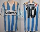 Racing Club - 1991 CL - Home - Adidas - Salicrem - 9na Fecha vs Dep. Español - R. Paz