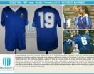 Argentina - 1991 - Away - Adidas - Friendly vs USA - A. Mohamed